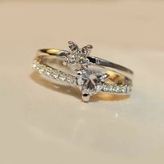 Heart & Leaf Crystal Alloy 18K Gold Plated Women's Rings - USD $45.95
