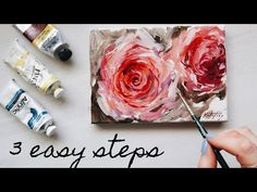 Canvas Painting Tutorials, Acrylic Painting For Beginners, Acrylic Painting Techniques, Painting Lessons, Diy Painting, Drawing Techniques, Beginner Painting, Acrylic Painting Flowers, Acrylic Art