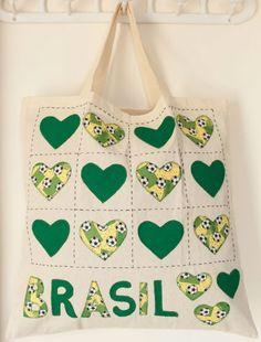 Passo a passo – Ecobag Corações para Copa do Mundo — Rio Artes Manuais - Artesanato, passo a passo, técnicas.