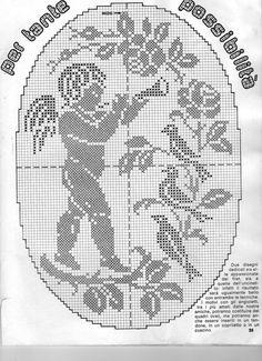 angelo filet | Hobby lavori femminili - ricamo - uncinetto - maglia