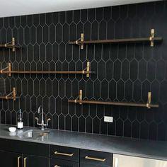Aliante Black 4x12 Porcelain Tile | TileBar.com