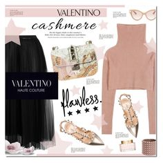 """""""Valentino"""" by justlovedesign ❤ liked on Polyvore featuring Valentino, H&M and cashmere"""