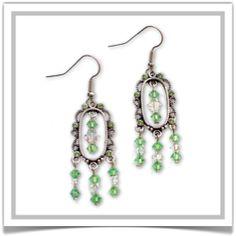"""One-of-a-Kind """"Mist"""" Earrings - Designed by Belle Bijou:  http://www.bellebijoujewelry.com/store/detail/index.html#cid=38233"""