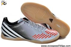New Adidas Predator LZ TRX IC Silver Black Infrared Soccer Shoes Store