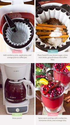 Hot Cranberry Punch, an easy party punch recipe.