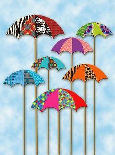 How to Make A Paper Bag Scrapbook – Scrapbooking Fun! Umbrella Art, Under My Umbrella, Paper Art, Paper Crafts, Diy Crafts, Art Projects, Projects To Try, Diy Bookmarks, Scrapbook Embellishments