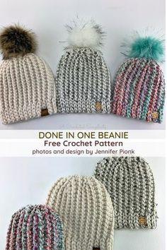Crochet Simple, Easy Crochet Hat, Knit Or Crochet, Crochet Scarves, Crochet Crafts, Double Crochet, Crochet Hooks, Newborn Crochet Hats, Crochet Projects