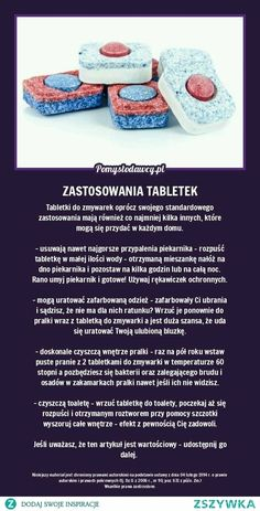 De zynfekcja a stosowanie tabletek do zmywarki Hacks Diy, Home Hacks, Diy Cleaning Products, Cleaning Hacks, Pam Pam, Home Organisation, Diy Cleaners, Simple Life Hacks, Cata