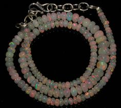 """51 CRT 3-7 MM 16""""NATURAL ETHIOPIAN  WELO FIRE OPAL  RONDELLE BEADS NACKLACE 748"""
