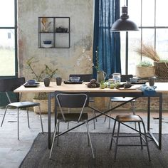 Mesa comedor con extesiones de 6 a 10 plazas, nova roble La Redoute Interieurs | La Redoute Table Vintage, Chaise Vintage, Home Furnishing Accessories, Home Furnishings, Seagrass Rug, Sushi Plate, Dining Chairs, Dining Table, Stairs