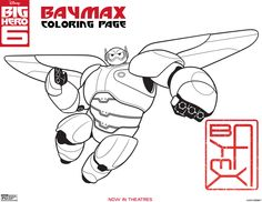 Baymax coloring page. Big hero 6 coloring pages!!! Just what I wanted! Mom, will you print these please!
