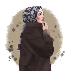 Cartoon Kunst, Cartoon Art, Hijab Drawing, Instagram Cartoon, Islamic Cartoon, Anime Muslim, Hijab Cartoon, Ideas For Instagram Photos, Cute Friend Pictures