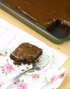 Healthy Texas Sheet Cake (Vegan/Gluten Free/Paleo/Low Calorie)