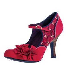 e1bfe41e51620d Ruby Shoo Ladies Ashley Textile Shoes In Red