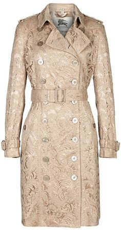 Burberry Beige Coat. I can dream right?