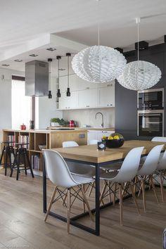 Dining Area, Dining Table, Kitchen Living, Living Room, Modern Kitchen Design, Wooden Tables, Apartment Living, Home Interior Design, Loft