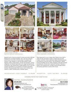 E.J. Maysonave and Lynn Wade are the agents for these great listings ...