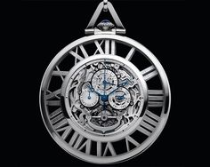 Cartier Grand Complication Skeleton Pocket Watch ~ This pocket watch is a piece which in the true heritage of traditional watchmaking