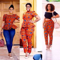 Paired it beautifully! African Wear, African Fashion, African Prints, Chic Dress, News Design, Ankara, Jumpsuit, Pairs, Pure Products