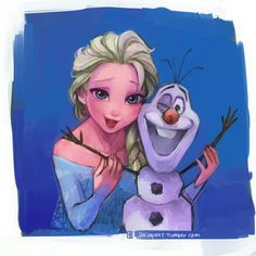 Elsa x Olaf Walt Disney, Disney Films, Cute Disney, Disney And Dreamworks, Disney Frozen, Disney Art, Disney Pixar, Elsa Frozen, Disney Marvel