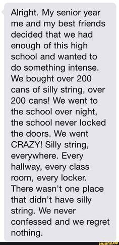 Senior prank done right