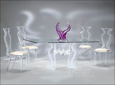 Monaco Acrylic Dining Chairs At StudioLX