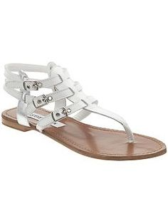 White sandals...  Steve Madden Saahti | Piperlime