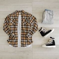 Flannel Shirt Outfit, Flannel Outfits, Flannel Shirts, Stylish Mens Outfits, Dope Outfits, Casual Outfits, Fashion Outfits, Smart Casual Men, Mens Attire