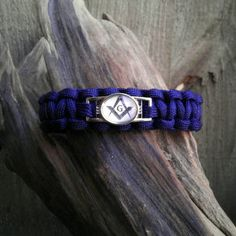 Masonic S Paracord Bracelet Blue by gotdecalz on Etsy Paracord Projects, Macrame Projects, Paracord Uses, Parts Of A Circle, Jobs Daughters, Good Find, Freemasonry, Paracord Bracelets, Cool Things To Buy