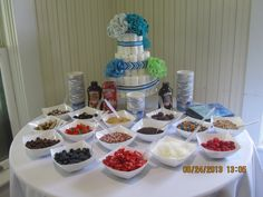 #baby shower #boy baby shower #ice cream bar #diaper cake