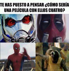 Si me lo imagino xd Avengers Memes, Marvel Memes, Marvel Dc Comics, Marvel Avengers, Mundo Marvel, Disney Marvel, Marvel Funny, Geek Girls, Stupid Funny Memes