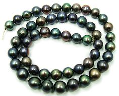 "Black round pearls (7 - 8mm, 16"" strand) at GIFTSJOY.COM"