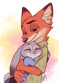 Pixar Drawing Nick Wilde and Judy Hopps from Zootopia Disney Pixar, Disney Animation, Disney And Dreamworks, Cute Disney Wallpaper, Cartoon Wallpaper, Couple Wallpaper, Disney Drawings, Cute Drawings, Disney Artwork