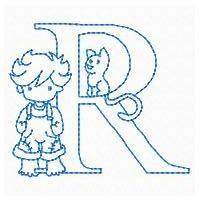 Redwork Country Kids Alphabet - Embroidery Playground | OregonPatchWorks