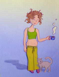 Illustrations on becoming a mother – Eszter Kónya Illustration Disney Characters, Fictional Characters, How To Become, Illustrations, Disney Princess, Design, Art, Art Background, Illustration