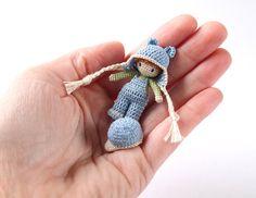 Micro Amigurumi Boy - 1.5 Inch Doll - Crochet Amigurumi. (Available to purchase on Etsy).
