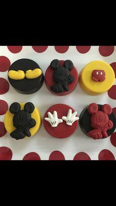 Mickey Themed Chocolate Covered Oreos