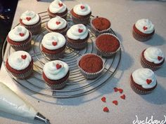 Receta para Red Velvet cupcakes (español)