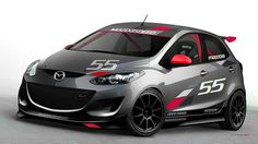 Final rendering of the #Mazda #Mazda2 Evil Track Car before its debut at the 2010 SEMA Trade show