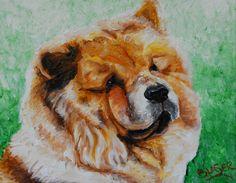 NEW ORIGINAL Painting Chow Chow Dog Art Pet Portrait REPAINTED 8x10 canvas #Realism