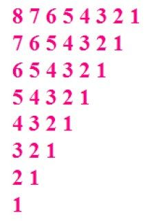 Reverse Number Pattern In Cpp Using While Loop Number Patterns