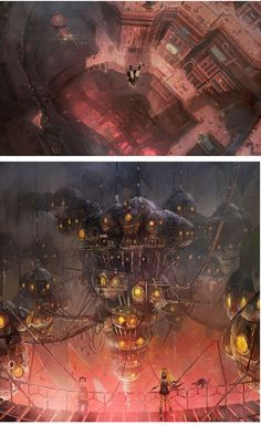 Sensacionais Concept Arts do game Gravity Rush | THECAB - The Concept Art Blog