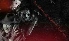 Freddy Krueger, Jason Voorhees And Michael Myers Halloween Movies, Scary Movies, Legends Of Horror, Slasher Movies, Movie Marathon, Michael Myers, Freddy Krueger, Horror Films, The Past