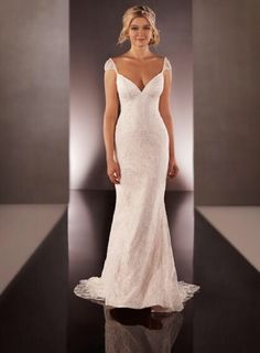 Bewerkte trouwjurk met kapmouwtje & open rug sexy bruidsjurk