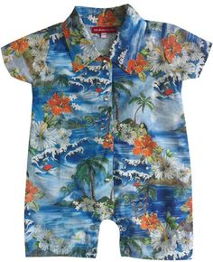 Hawaiian Shirt Playsuit - Now £20.00