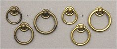 This site has the most extensive hardware I have ever seen!  And great prices.  Just ordered these Ring Pulls Hardware