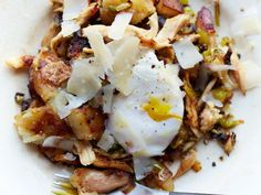 Chicken Hash with Eggs | Using leftover chicken in a hash with green pepper, onion and jalapeños makes a nice, hearty breakfast.