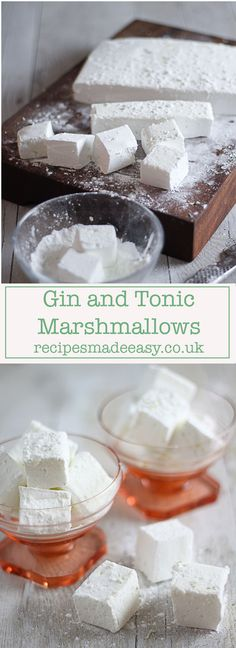and Tonic Marshmallows fluffy gin and tonic marshmallows by recipes made easy. A perfect gift for any gin lover.fluffy gin and tonic marshmallows by recipes made easy. A perfect gift for any gin lover. Gin Tonic, Gin And Tonic Cake, Pavlova, Fudge, Food To Make, Sweet Tooth, Cooking Recipes, Gin Recipes Food, Ham Recipes