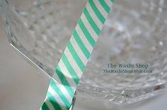 Mint Stripe Washi Tape