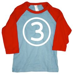 Boys 3rd Birthday Tshirt American Apparel Raglan T by happyfamily, $20.00